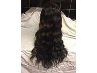 Stunning full lace wig, 22 inches body wave Brazilian virgin. Ombré . Soft and swishy