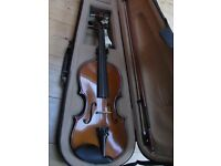 PALATINO 3/4 SIZE VIOLIN WITH CASE, BOW AND BEGINNER BOOKS - GOOD CONDITION