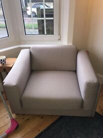Habitat Colombo Grey Fabric Armchair