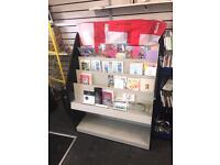 Wood card stand for shop