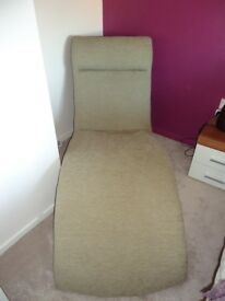 Chaise Lounger, Veneto Black/Moser Biscuit, quality fabric