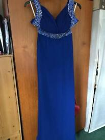 Blue ball gown size 8-10
