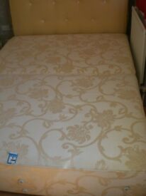 5ft Divan Base With Headboard and Bottom Rail