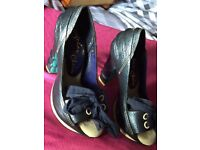 Size 5 irregular choice navy Slide In shoes