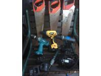Mix lot of Electric tools Drills, saws, screwdriver