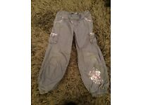 Girl's trousers x2 for 5-6 years