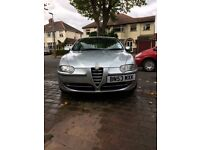 Alfa Romeo 147 1.6 TS Lusso. Black leather interior. MOT until Aug 2018