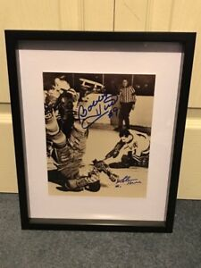 Chicago Blackhawks Bobby Hull & Glen Hall dual Signed photo