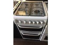 White cannon 50cm gas cooker grill & oven good condition with guarantee
