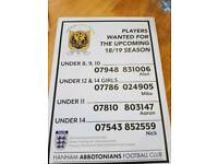 WANTED PLAYERS