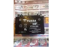 GENUINE YUASA YTX9-BS MOTORCYCLE BATTERY 8Ah 12V ACID GEL