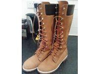 Timberland High Leg Boots -Never worn