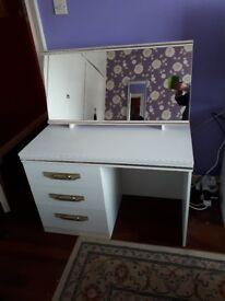 White dressing table.