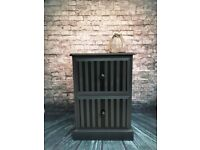 Solid Painted Pine Filing Cabinet.