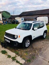 White Jeep Renegade Longitude