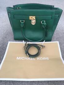 Michael Kors genuine Hamilton green bag