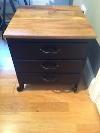 Industrial Bedside Chest of Drawers