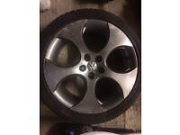 """Vw Golf MK4 18"""" gti monza alloy wheels"""