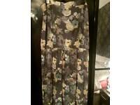 SIZE 22 GREY FLORAL DRESS