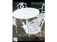 ** WANTED CAST IRON TABLE AND CHAIRS **