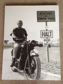 Large Canvas Wall Picture Featuring Steve McQueen In The Film 'The Great Escape'