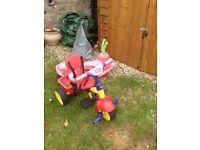 Free child's trike and garden caterpillar