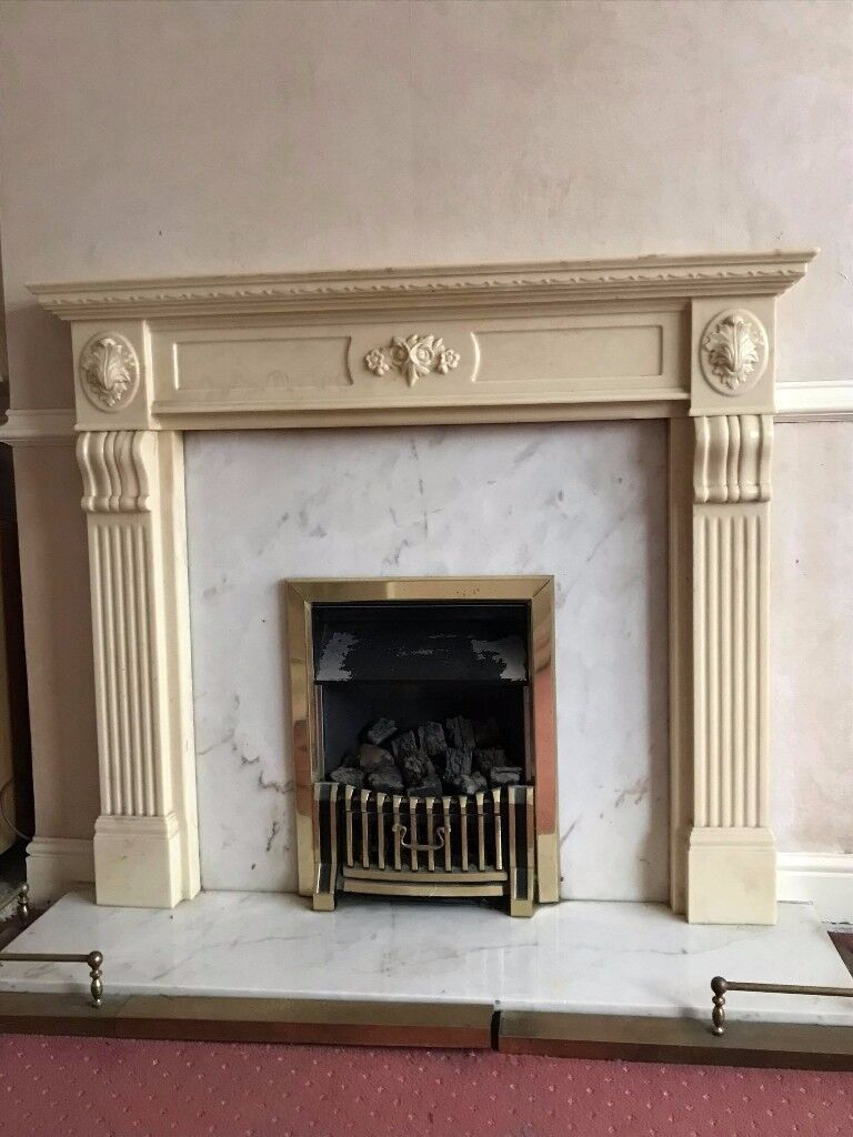 Marble effect Fireplace & Surround - Excellent condition