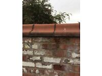 Terracotta coping, capping stone, red antique