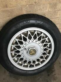BORBET B 14x6j RETRO 4x100 ALLOY WHEELS ONLY 2 VW POLO MK1 GOLF