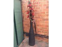 Tall black ceramic vase -IKEA