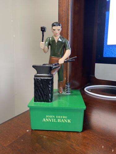 John Deere Mechanical Anvil Coin Bank - GREAT COLLECTOR ITEM-works-  9022