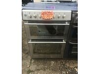 STOVES 60CM WIDE CEROMIC TOP ELECTRIC COOKER IN SHINY SILIVER