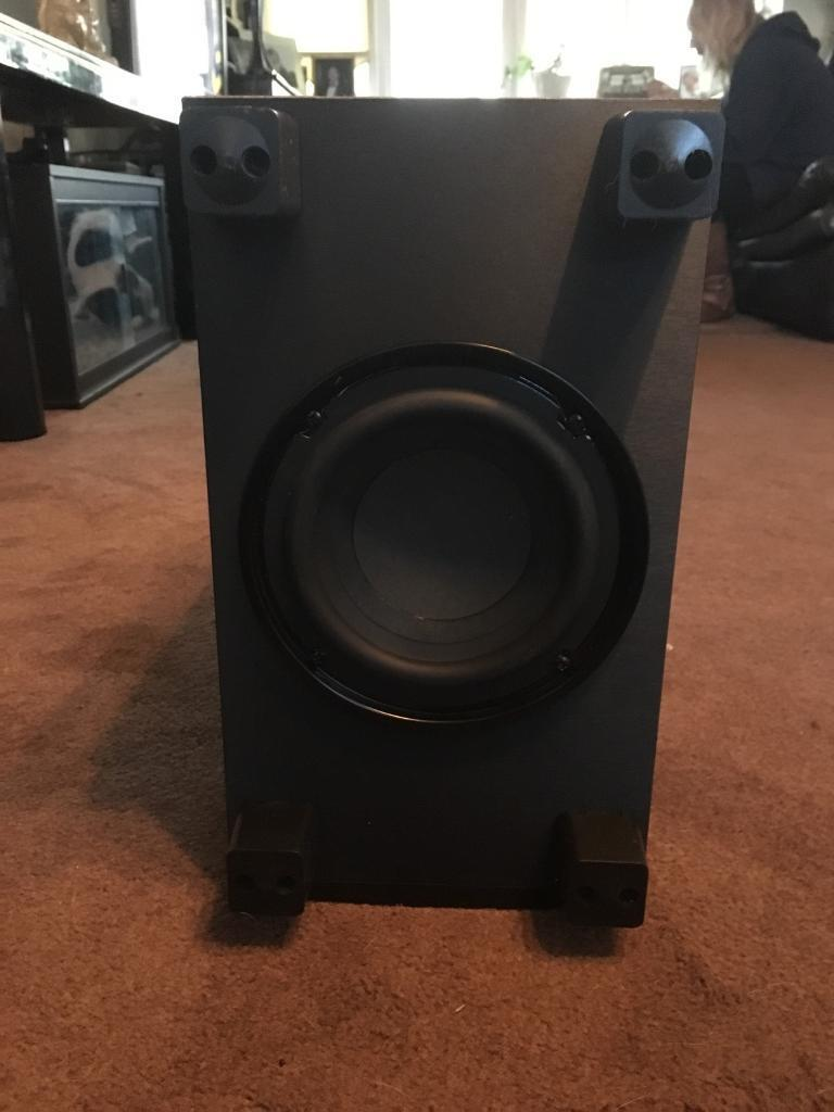 how to connect passive subwoofer to receiver