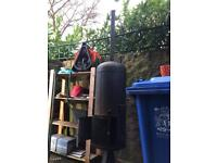 Gas bottle converted to wood burner