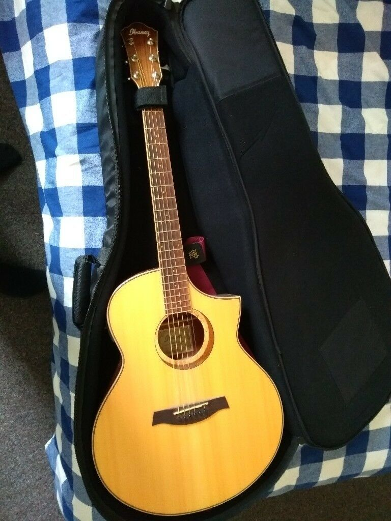 Ibanez Aew21vk Nt Natural Acoustic Electric Guitar Ovangkol With