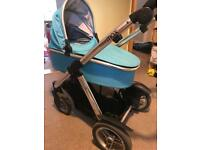 Oyster Max tandem buggy and carry cot with buggy board and more!