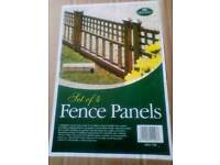 Bronze effect fence panels