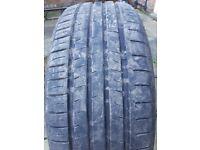 Tyres x 2 great tread 225/55z R19 101h