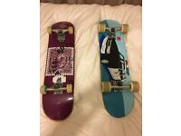 Two professional standard skateboards