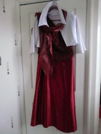 Burgundy Bridesmaids, Wedding, Party, Evening Dress and Bolero size 12-14