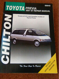 Toyota Previa 1991 to 1997 Chilton Service and Repair Manual 68640