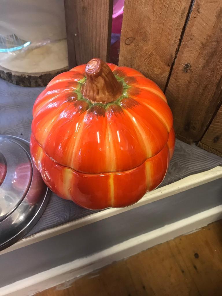 Ceramic Halloween Pumpkin Decoration