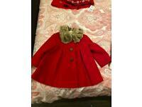 Red duffle coat & jumper dress