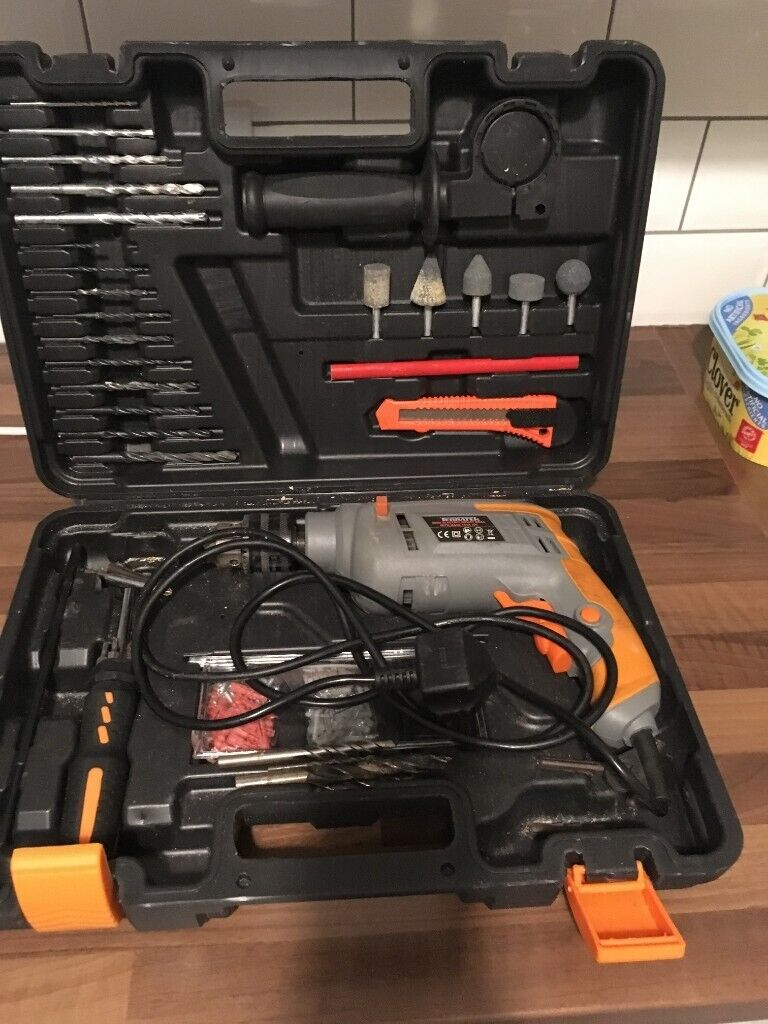 Excellent Terratek Electric Corded Impact Drill Drill Bits Hand Tool Kit In Largs North Ayrshire Gumtree Alphanode Cool Chair Designs And Ideas Alphanodeonline