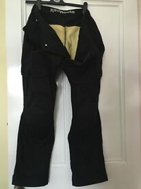 Mens Motor Bike Kevlar Black Jeans