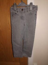 Girls Next Grey Jeans Age 4