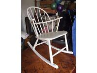 Swedish vintage designer rocking chair