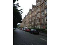 2 bed furnished flat with lounge and office/box room overlooking Meadows and Castle