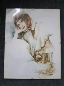 Original vintage 1970's sara moon print
