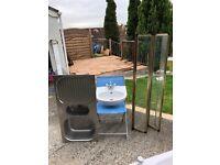 Wash Hand Basin, Kitchen Sink & Shower Screen for sale